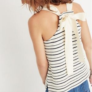 Madewell Texture & Thread bow back striped tank
